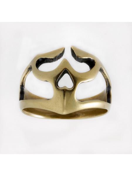 Кольцо череп прорезной